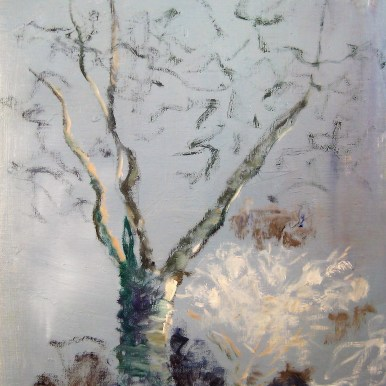 Kirsebærtræet Olie på lærred 40x50 cm