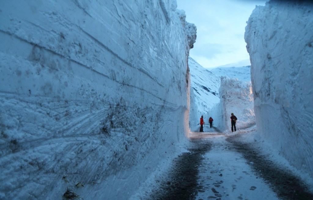 Snow avalanche in Bessans 2018