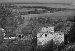 Mlýn Cimburk - ruiny a obytné hospodářské budovy, rok 1940