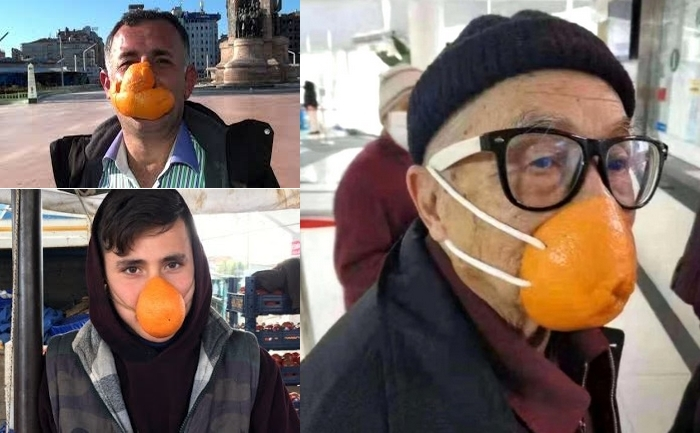 portakal kabuğu maske yapmak