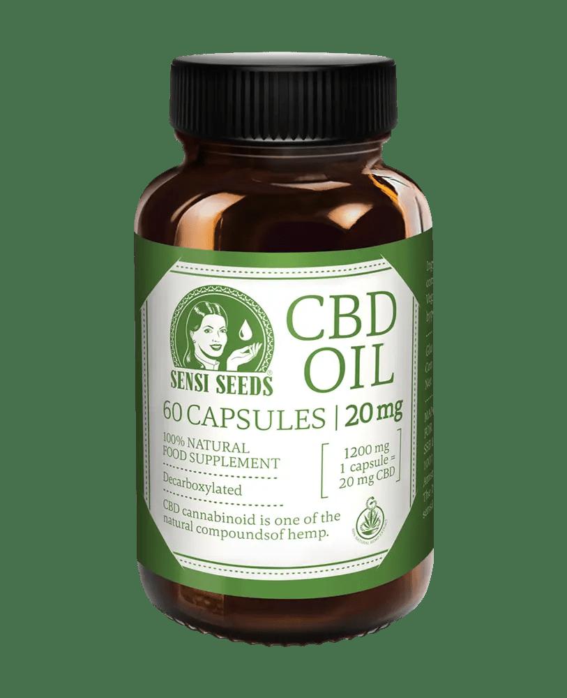 CBD Oil - 20 mg - 60 capsules