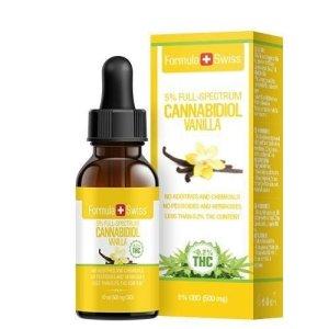 7 CBD oljer i MCT olje fra Formula Swiss med vanilje smak