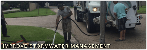 IMPROVE STORMWATER MANAGEMENT