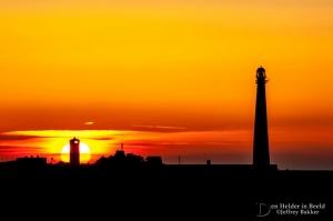 vuurtoren zonsondergang