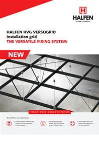 Kabinimo sistema parodų ir koncertų salių įrangai HVG VERSOGRID brosiura