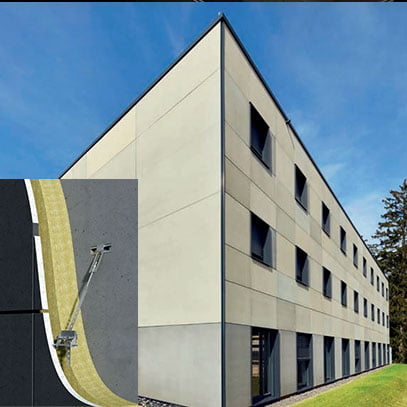 pakabinami inkarai plonoms fasadinėms plokštėms FPA SL30 Halfen - Denia pavyzdys