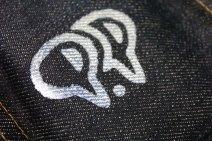 Momotaro coin purse rear closeup