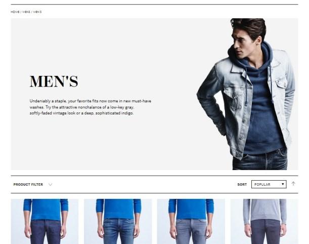 Citizens of Humanity Re-Launch Website Men