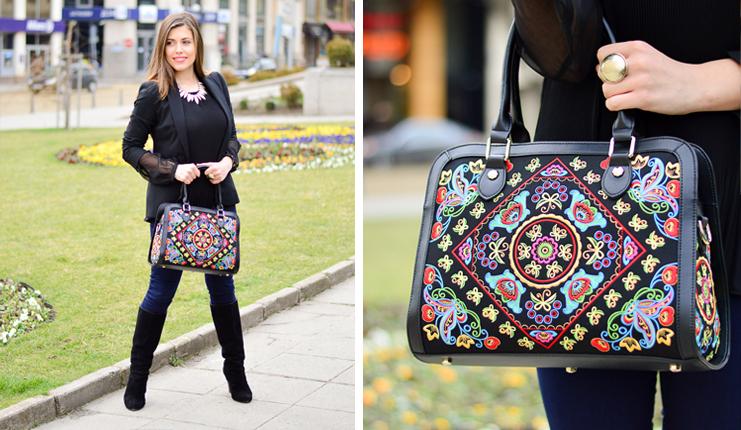 Fricaine Embroidered Handbag Denina Martin