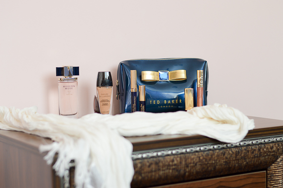 Beauty Bag Ted Baker with Guerlain's Estee Lauder's Make up Products by Denina Martin