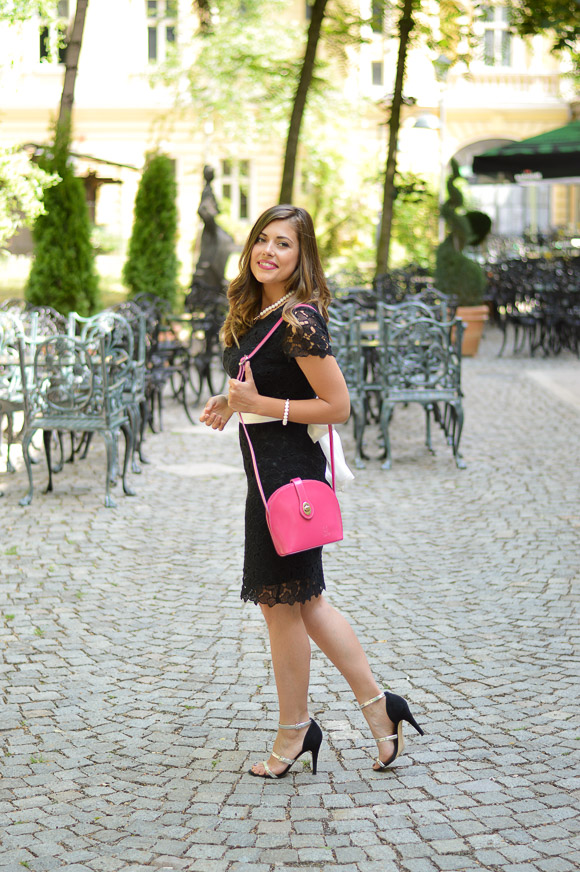 Black Lace Dress styled by Bulgarian Fashion Blogger Denina Martin