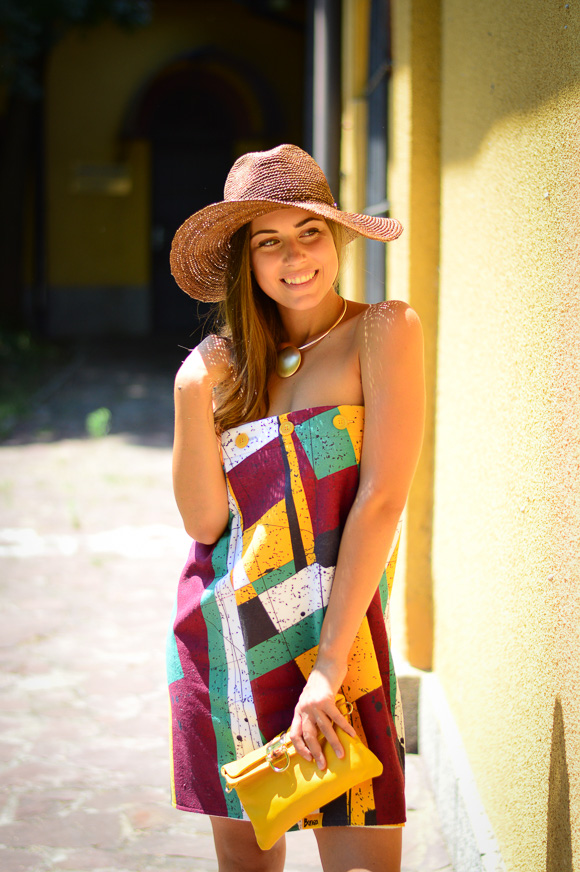 Unconventional multipurpose dress styled by Denina Martin