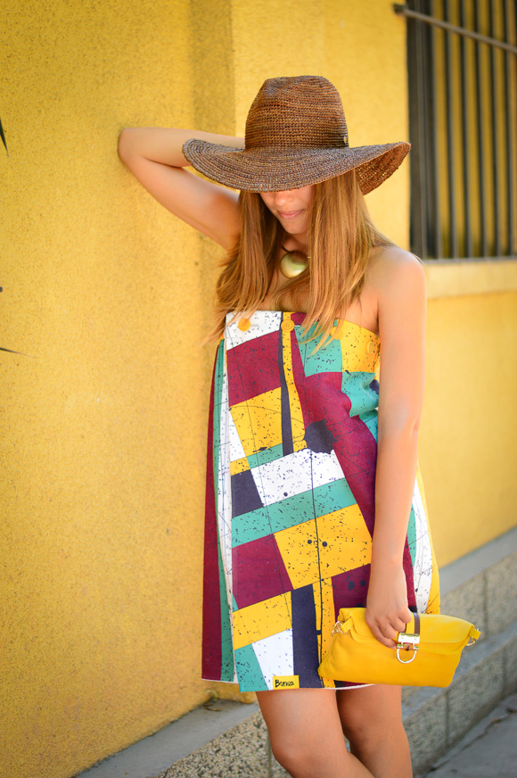 Bulgarian Fashion Blogger Denina Martin wearing a Bunga Dress