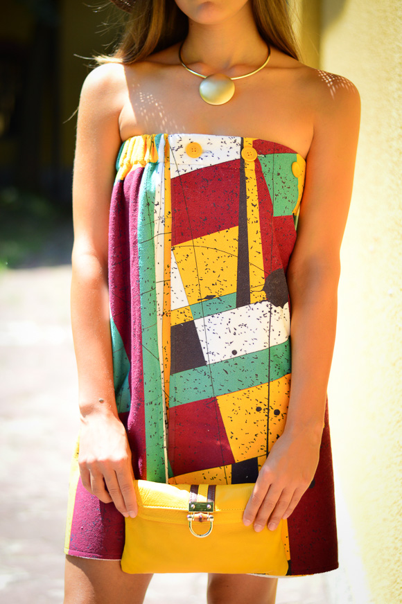 Towel Dress that can transform into a beach towel as well as a skirt
