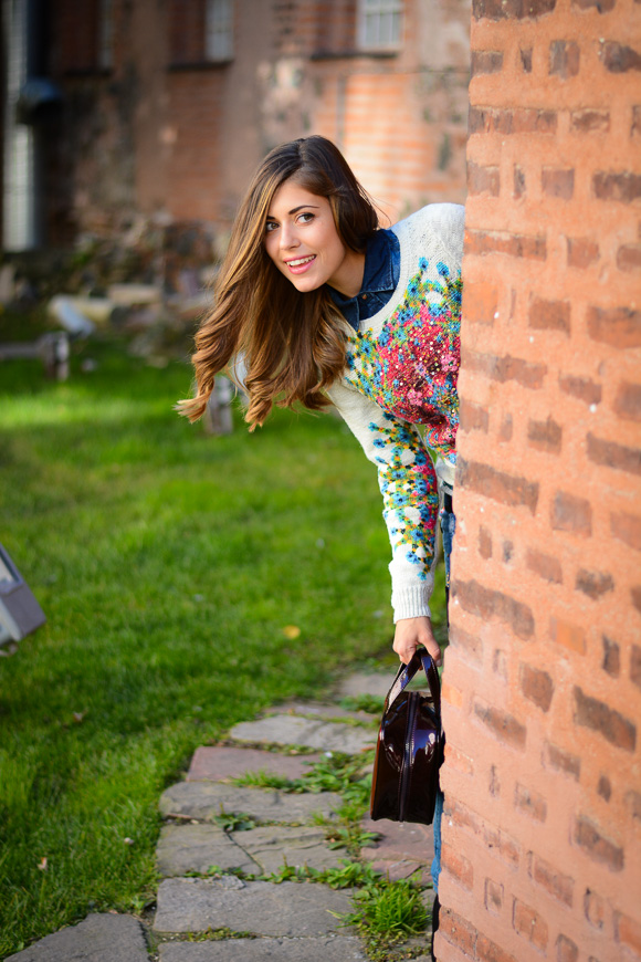 Bulgarian Fashion Blogger Denina Martin dressed in a colorful mood