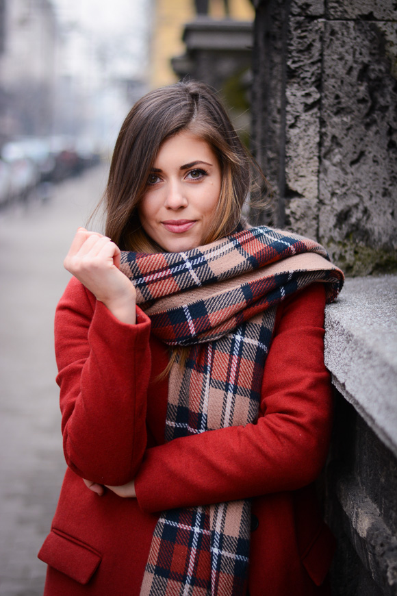 Winter-Red-Coat-Plaid-Scarf-Suede-Boots-Denina-Martin-12