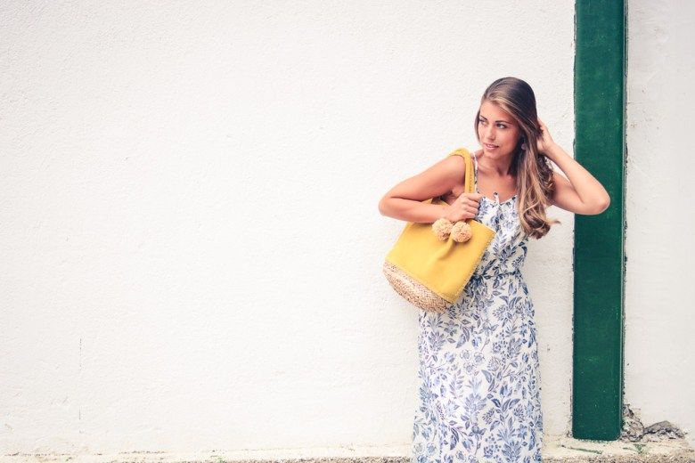 Pepe Jeans London Floral Blue Maxi Dress and Denina Martin