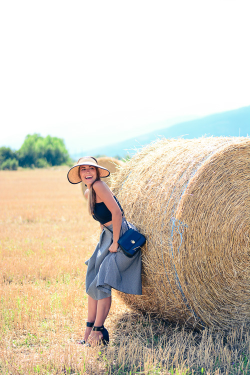 Fields Of Gold Gingham Skirt Hay Denina Martin