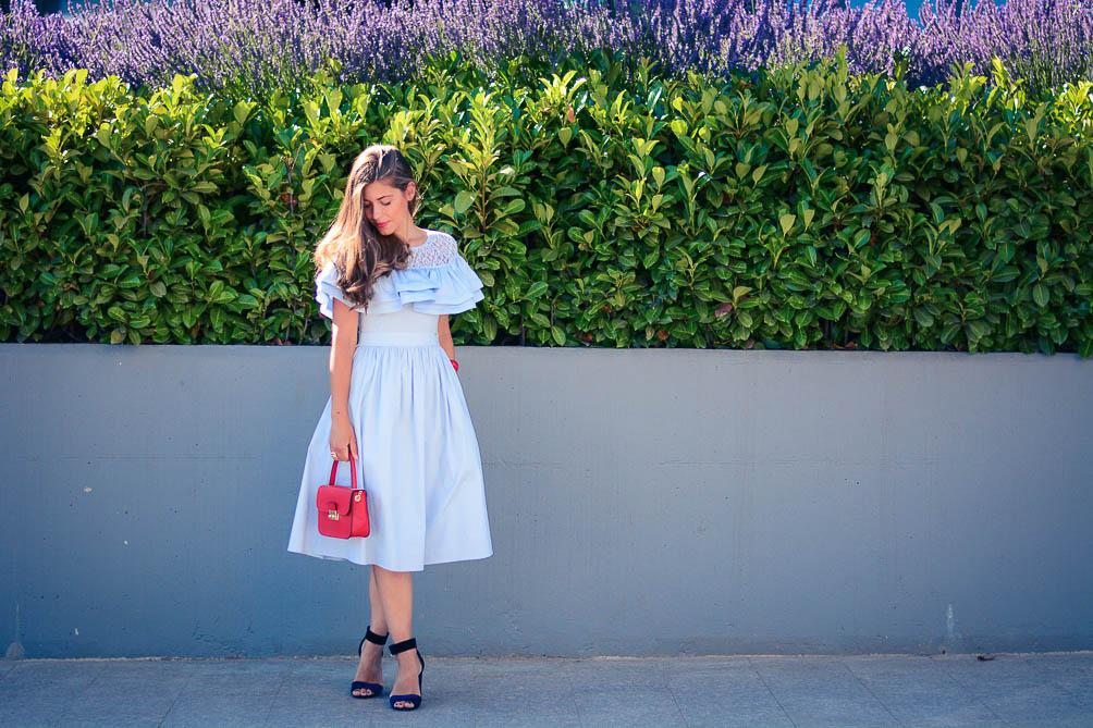 Wearing Ruffle Dress from Catty Bulgaria Mall