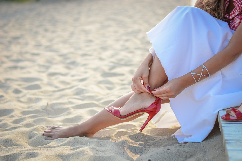 Deichmann High Heels Red Sandals Summer Outfit Bulgarian Blogger