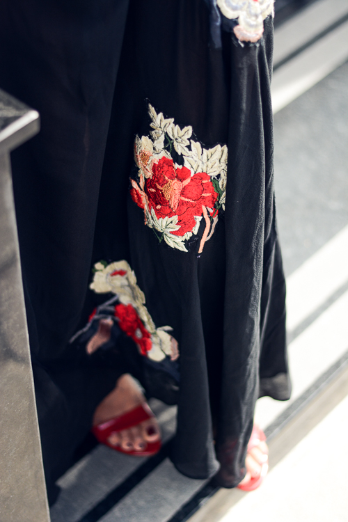 HM Studio Autumn Winter 2016 Embroidered Maxy Dress