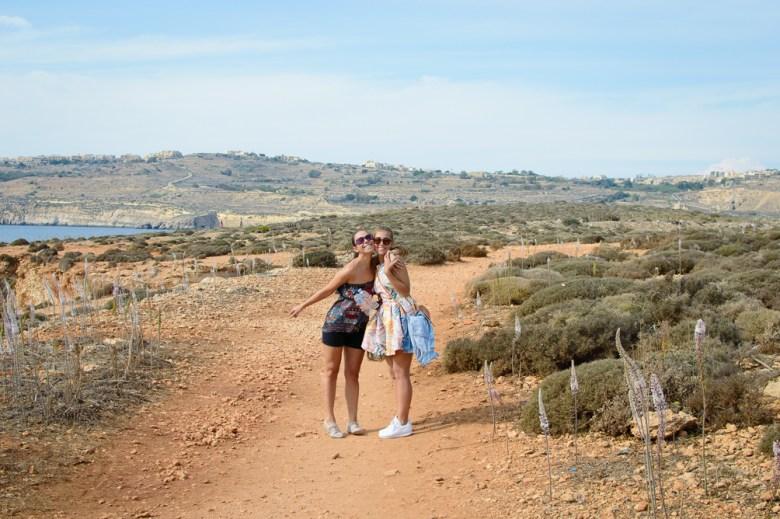 Friend exploring Comino Island of Malta