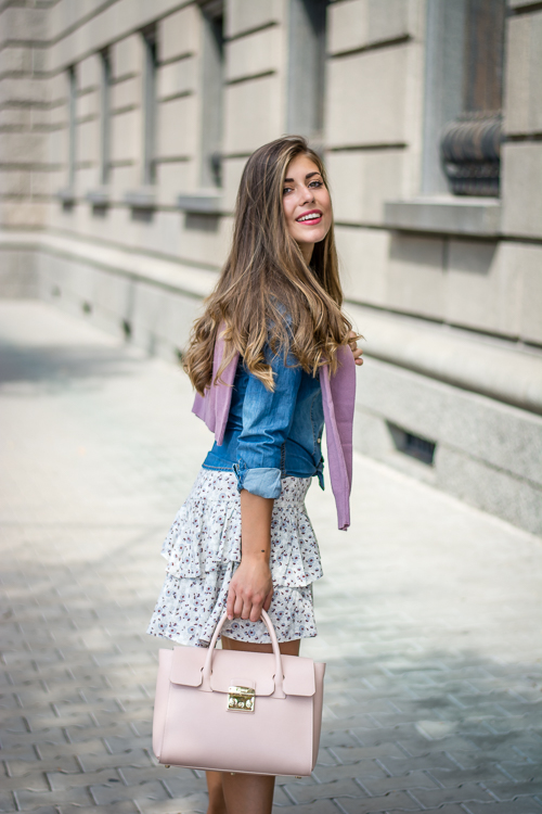 Denim Shirt Furla Tote Bag