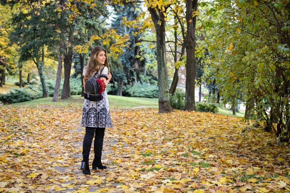 Desigual dress Michael Kors back pack Denina Martin