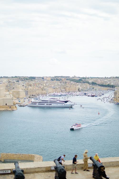 Exploring Malta city of Valletta harbour