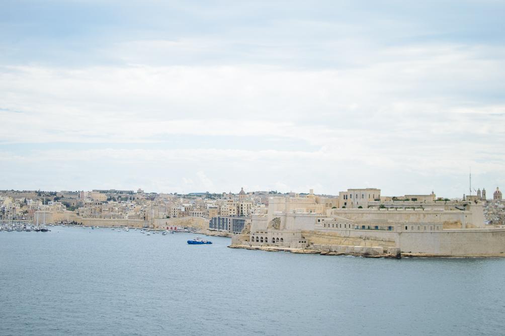 Exploring Malta historical city of Valletta harbour