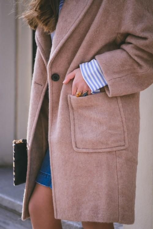 HM coat by Bulgarian blogger Denina Martin