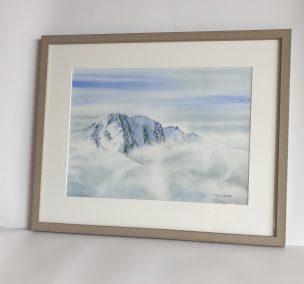 Eclaircie sur l'Otztal, aquarelle 31x41