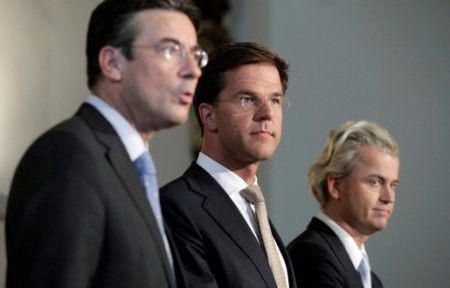 Verhagen, Rutte en Wilders