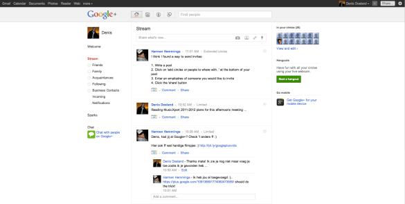 Google+ Denis Doeland