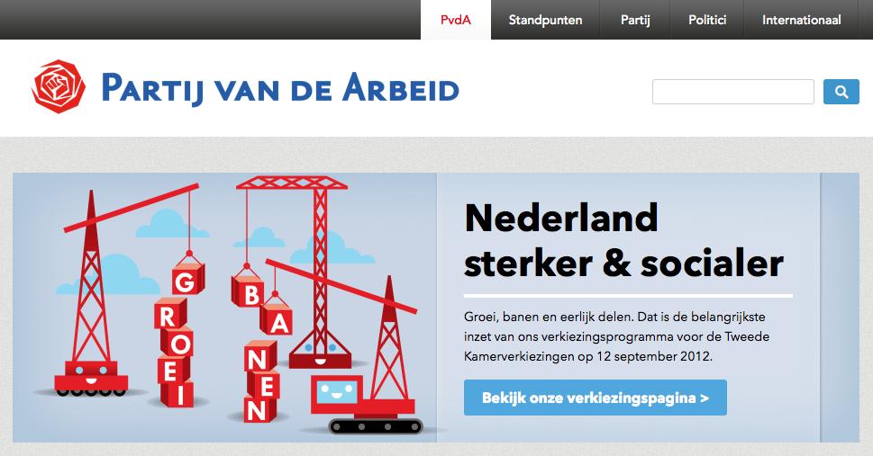 Nieuwe website PVDA