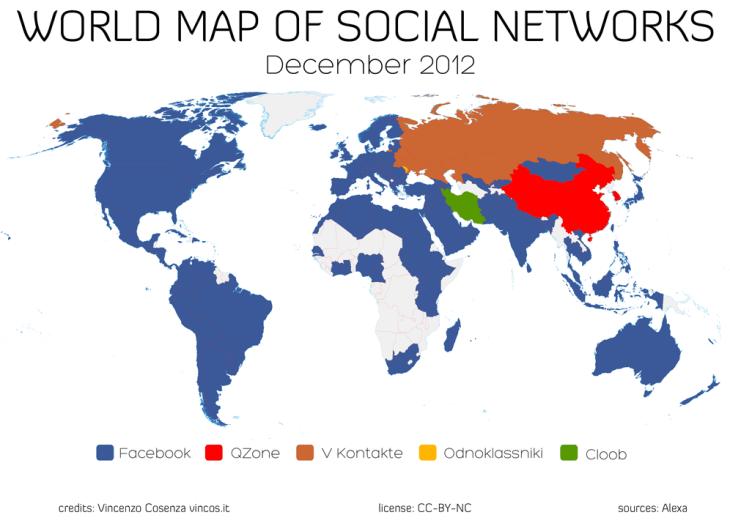 De Social Media Wereldkaart 2012