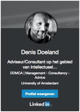 Denis Doeland op Linkedin