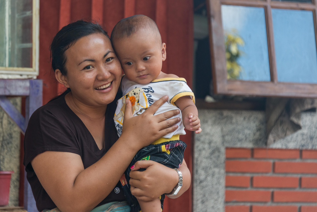 Bali mother and baby.
