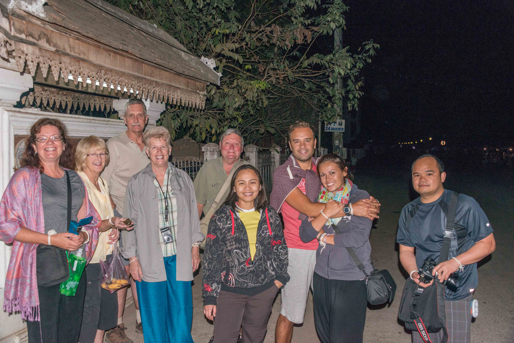 We ventured out well before dawn to witness the daily ritual of providing food for the monks.