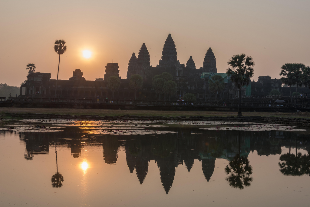 "Sunrise at Angkor Wat, the ""classic"" way."