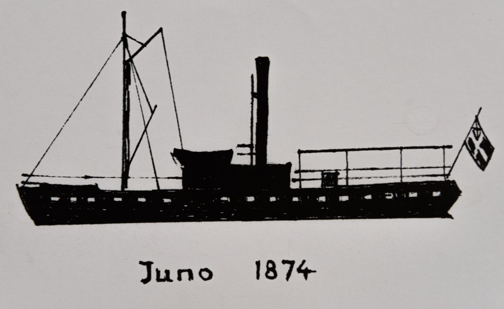 What the Juno looked like before the upper decks were added in the early 1900s.