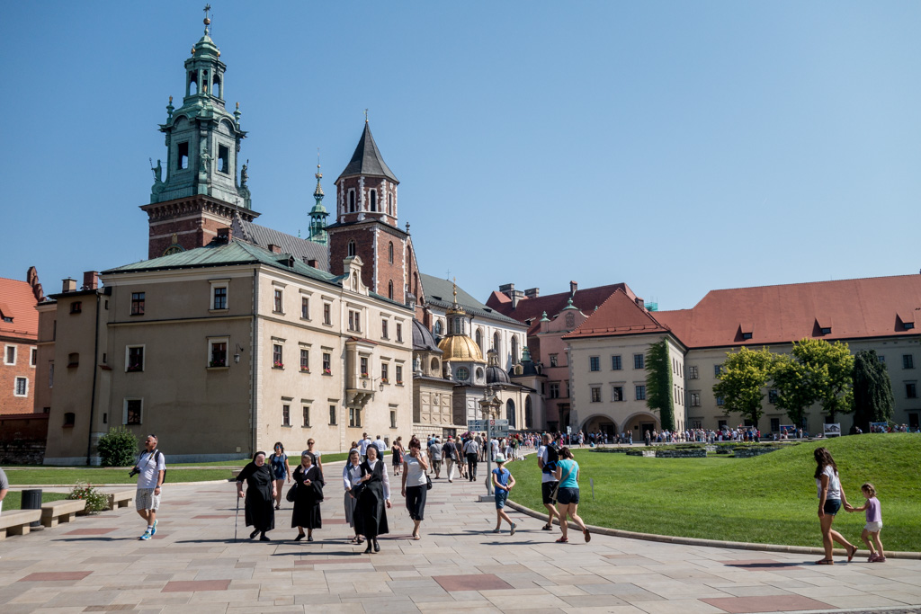 The castle (which also houses a church) at Krakow.