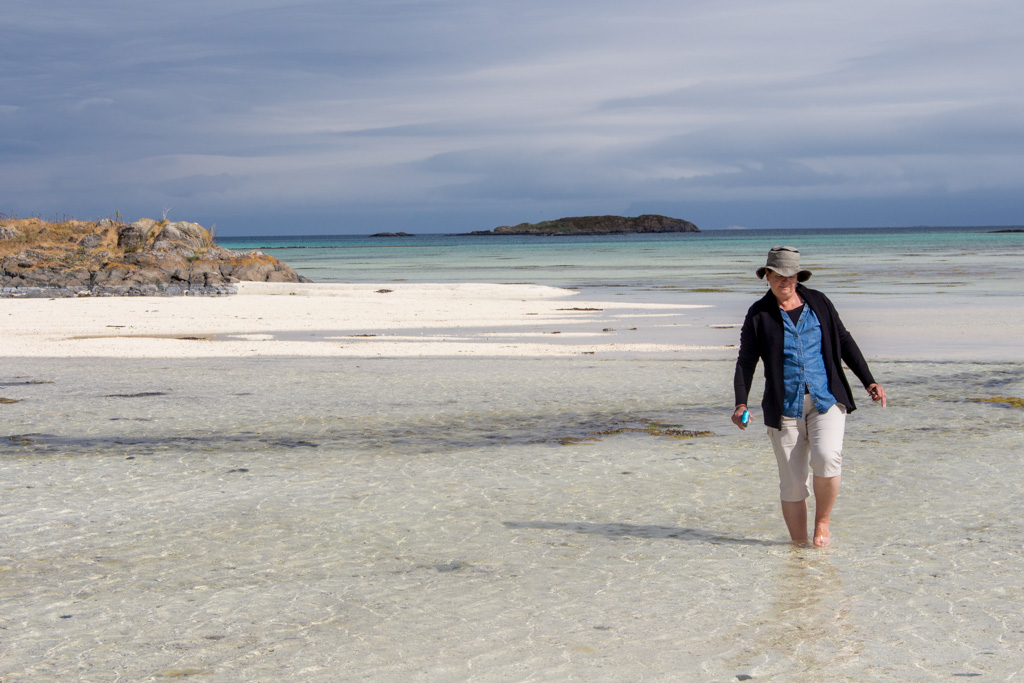Wading in Arctic waters - not as bad as it sounds.