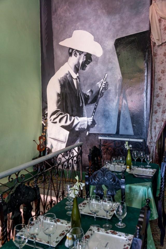 Mural in a restaurant in Cienfuegos.