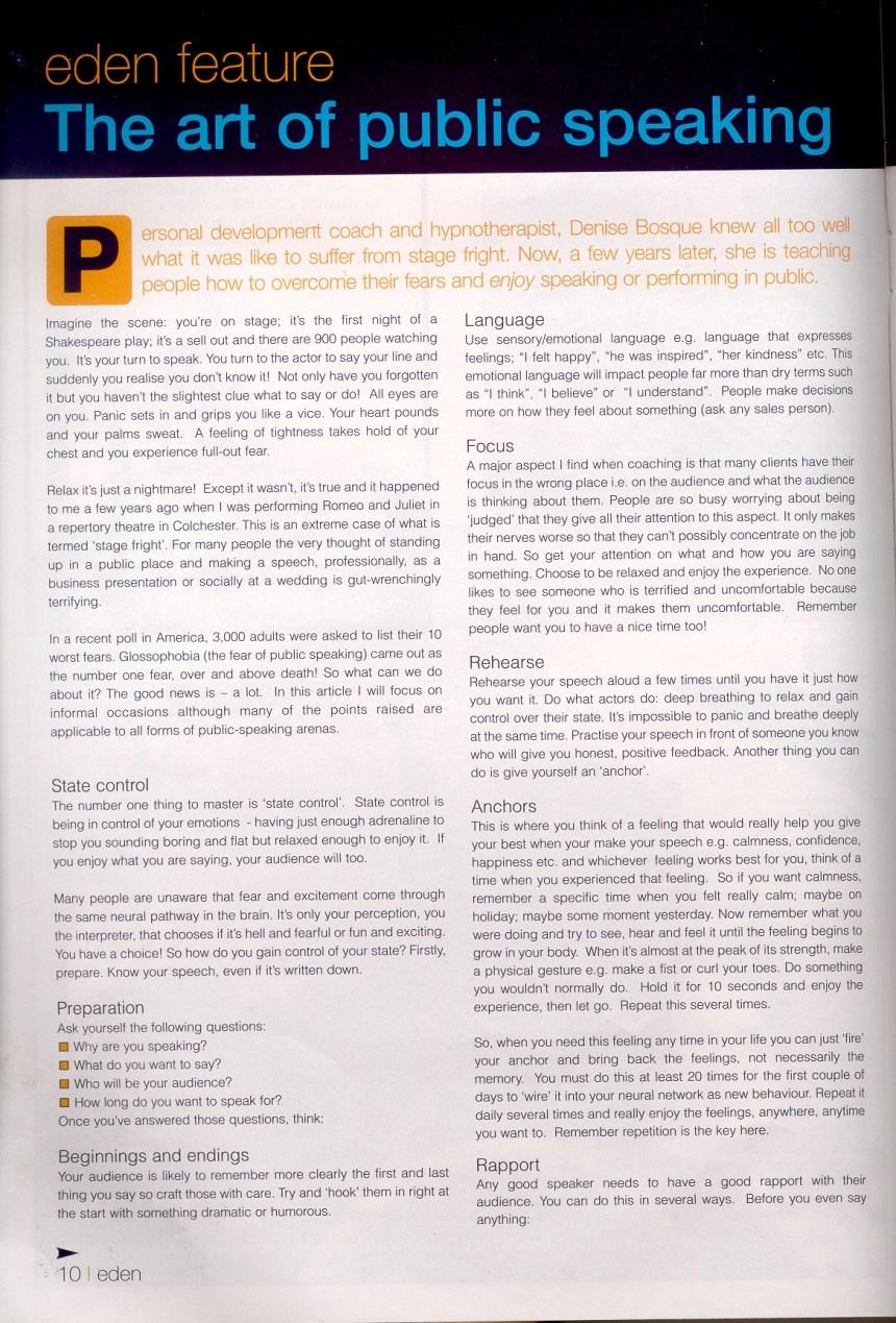 Eden Magazine Page 1