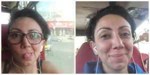 Believe it or not, there are only 15 hours between one pic and the other, despite clear evidence that I took on 10 years on that bus ride from Rishikesh to Dharamshala.