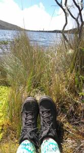 trekking, shoes, laguna