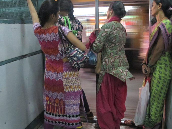 women only section on train in Delhi