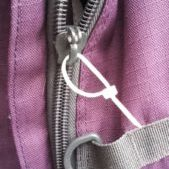 cable ties on backpack