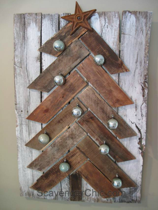 diy christmas tree pallet